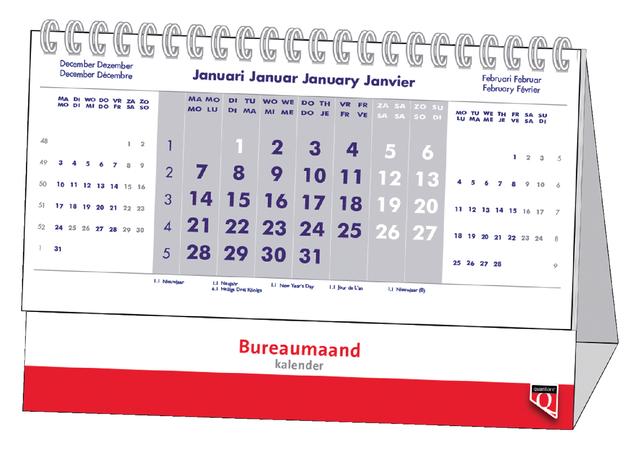 Maandkalender Bureau 2021