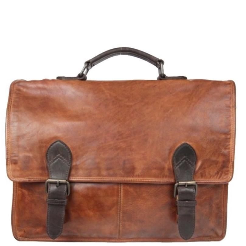 Bear design Laptoptas CL32844 bruin/cognac